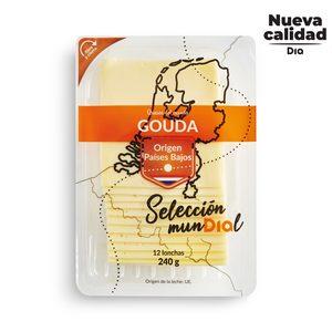 DIA SELECCIÓN MUNDIAL queso gouda en lonchas sobre 240 gr
