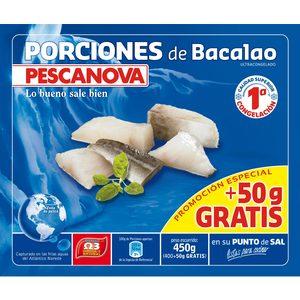 PESCANOVA porciones de bacalao envase 400 gr