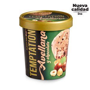 DIA TEMPTATION helado de avellana y chocolate tarrina 350 gr