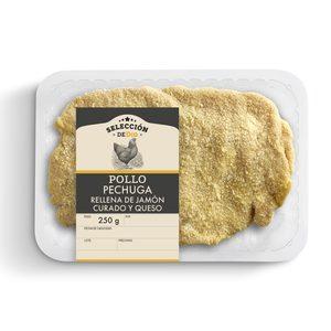 SELECCIÓN DE DIA pechuga rellena de jamón curado y queso bandeja 250 gr