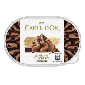 CARTE D' OR helado de chocolate brownie barqueta 500 gr