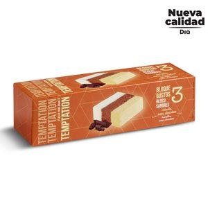 DIA TEMPTATION helado bloque tres sabores caja 523 gr