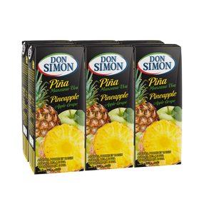 DON SIMON zumo de piña, manzana y uva pack 6 unidades 200 ml