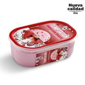 DIA TEMPTATION helado fresa con trozos barqueta 550 gr
