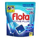 FLOTA lavavajillas máquina gel active plus en cápsulas 20 uds