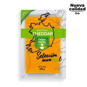 DIA SELECCIÓN MUNDIAL queso cheddar irlandés en lonchas envase 200 gr