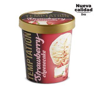 DIA TEMPTATION helado sabor strawberry cheesecake tarrina 350 gr