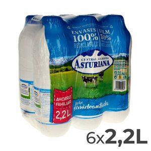 ASTURIANA leche semidesnatada botella 2.2 lt PACK 6