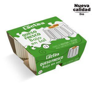 DIA LACTEA queso fresco bajo en sal pack 4 uds x 62,5 gr