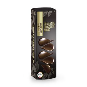 DIA TEMPTATION pétalos de chocolate negro caja 150 gr