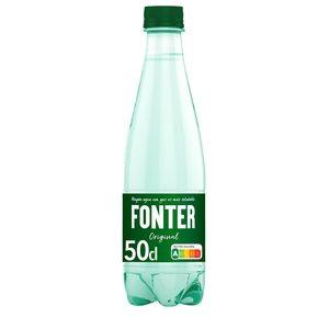 FONTER agua mineral natural con gas botella 50 cl