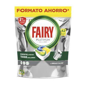 FAIRY lavavajillas máquina platinum aroma limón en cápsulas 42 uds